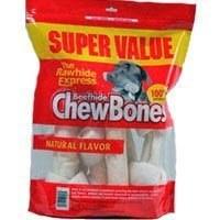 Beefhide Dog Chew Bones 1lbs