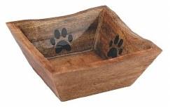 Advance Med Wood Bowl Paw