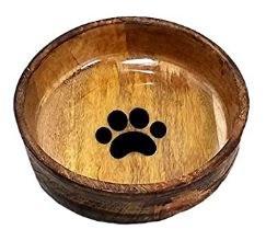 Advance Med Rnd Wood Bowl Paw
