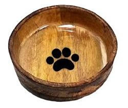Advance Lrg Rnd Wood Bowl Paw