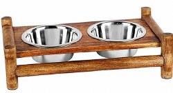 Advance 2 Quart Bamboo Double Diner Dish