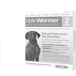Triple Wormer Med/Lg Dog 2 Ct