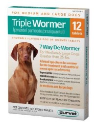 Triple Wormer Med/Lg Dog 12 Ct