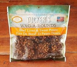 Tucker's Wag A Rounds Beef Liver & Sweet Potato Dog Treats 6oz