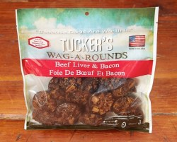 Tucker's Wag A Rounds Beef Liver & Bacon Dog Treats 6oz