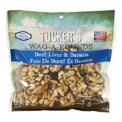 Tucker's Wag A Rounds Beef Liver & Banana Dog Treats 6oz