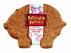 Natures Animals Barnyard Buddies Bacon & Cheese Dog Biscuit Single