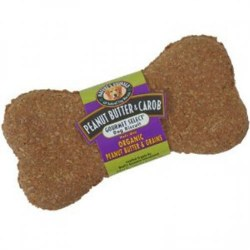 Natures Animals Gourmet Organic Peanut Butter and Carob Dog Biscuit Single 4.5 Inch
