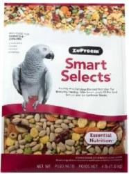 ZuPreem Smart Selects Parrot & Conure Bird Food 4lb bag