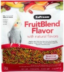 ZuPreem FruitBlend with Natural Fruit Flavors Medium Bird Food 2lb
