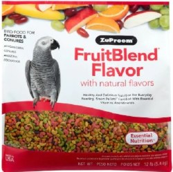 ZuPreem FruitBlend with Natural Fruit Flavors Parrot & Conure Bird Food 12lb