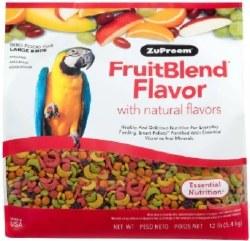 ZuPreem FruitBlend with Natural Fruit Flavors Large Bird Food 12lbs