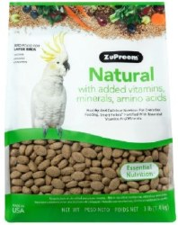 ZuPreem Natural with Vitamins, Minerals & Amino Acids Large Bird Food 3lb bag