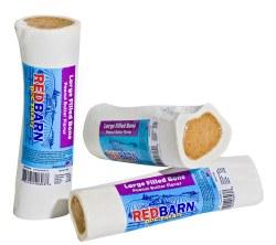 Red Barn 6 Inch Marrow Bone Stuffed With Peanut Butter