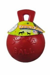 Toss N Tug Ball Red 8 Inch