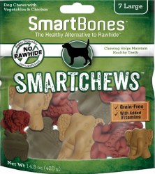 Smartbones Smart Chews 7 Large Rawhide Free Safari Chews