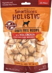 SmartBones Holistic Grain Free Chicken Dog Chews Mini 16 Pack