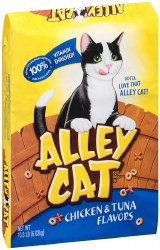 Alley Cat Chicken & Tuna Flavor All Life Stages Dry Cat Food 13.3lb