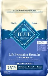 Blue Buffalo Life Protection Formula Large Breed Healthy Weight Adult Chicken and Brown Rice Recipe Dry Dog Food 30lb