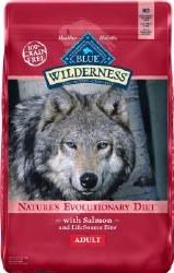 Blue Buffalo Wilderness Salmon Recipe Grain Free Dry Dog Food 24lb