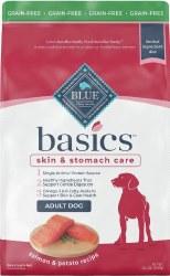 Blue Buffalo Basics Limited Ingredient Grain Free Formula Salmon and Potato Recipe Adult Dry Dog Food 22lb