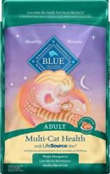 Blue Buffalo Multi Cat Health Chicken and Turkey Recipe Adult Dry Cat Food 15lb