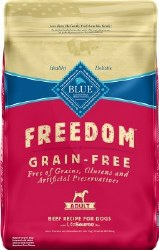 Blue Buffalo Freedom Adult Beef Recipe Grain Free Dry Dog Food 24lb