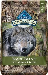 Blue Buffalo Wilderness Bayou Blend with Alligator and Catfish Grain Free Dry Dog Food 22lb