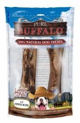 Loving Pets Pure Buffalo 7-9 Inch Femur Bones 2 Pack