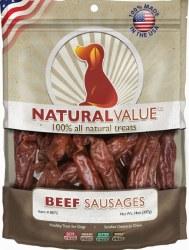 Loving Pets Natural Value Beef Sausage Recipe Dog Treats 14oz