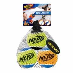 Squeak Tennis Balls 3pk Med