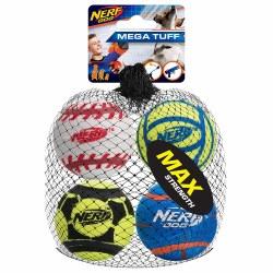 Nerf ToughSports Balls Med 4pk