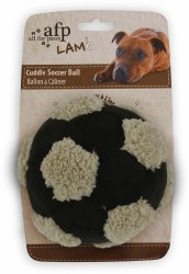 All For Paws Lamb Cuddle Soccer Ball Assorted Colors Dog Toy 6in