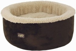 All For Paws Curl And Cuddle Tan Cat Bed 16in