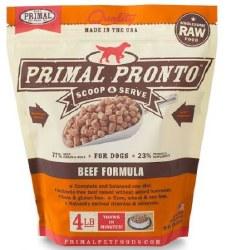 Primal Pronto Frzn Raw Beef4lb