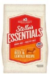 Stellas Essentials Grain Free W/Beef & Lentils 25lb