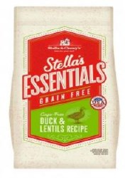 Stellas Essentials Grain Free W/Duck & Lentils 25lb