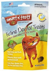 Smart N' Tasty Grain Free Turkey And Duck Dental Cat Treats 3oz