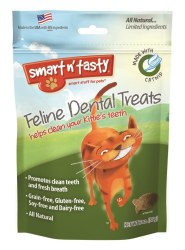 Smart N' Tasty Grain Free Catnip Dental Treats 3oz
