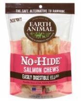 Earth Animal No Hide 4 Inch 2 Pack Salmon Chews