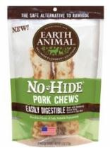 Earth Animal No Hide 7 Inch Pork Chew 2 Pack