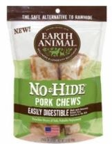 Earth Animal No Hide 4 Inch Pork Chew 2 Pack