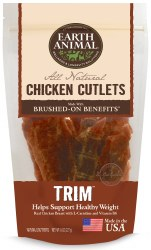 Earth Animal Trim Brushed On Benefits Chicken Cutlets Healthy Weight Support Dog Treats 8oz