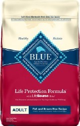 Blue Buffalo Life Protection Formula Adult Fish and Brown Rice Recipe Dry Dog Food 30lb