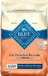 Blue Buffalo Life Protection Formula Large Breed Puppy Chicken and Brown Rice Recipe Dry Dog Food 30lb