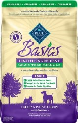 Blue Buffalo Basics Limited Ingredient Grain Free Formula Turkey and Potato Recipe Adult Dry Dog Food 24lb