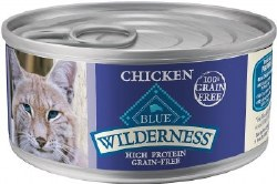 Blue Buffalo Wilderness Chicken Recipe Grain Free Canned Cat Food Case of 24 5.5oz