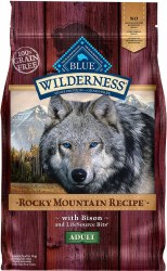 Blue Buffalo Wilderness Rocky Mountain Recipe with Bison Adult Grain Free Dry Dog Food 22lb