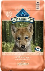 Blue Buffalo Wilderness Large Breed Puppy Chicken Recipe Grain Free Dry Dog Food 24lb