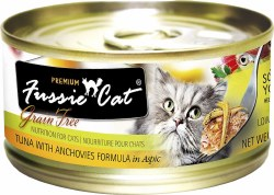Fussie Cat Tuna with Anchovies in Aspic Premium Grain Free Canned Cat Food 2.8oz